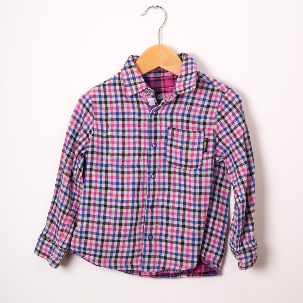 Double B Girl's Checked Shirt