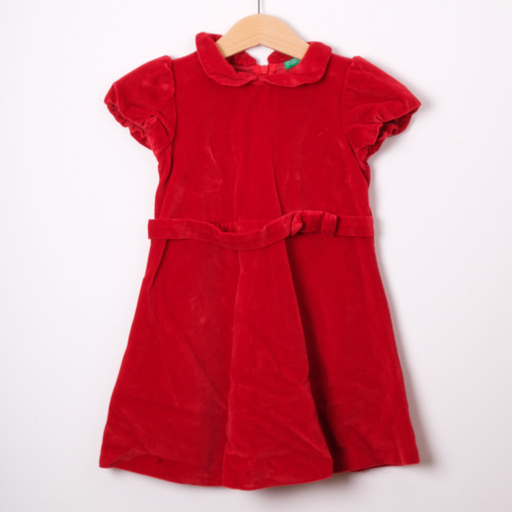 Benetton Red Velvet Dress