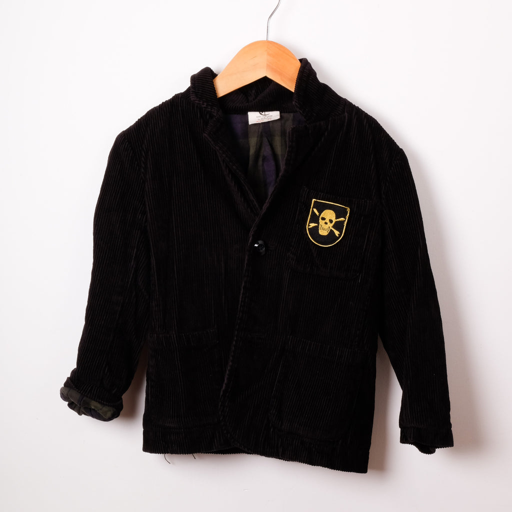 City College USA Black Cord Jacket