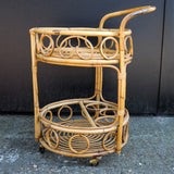 Lovely 1970s Wicker Cocktail Trolley