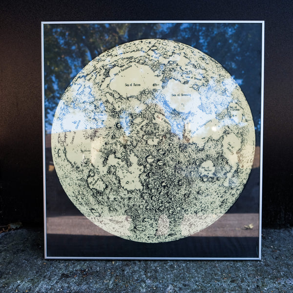 Beautiful Screen Print of the Moon