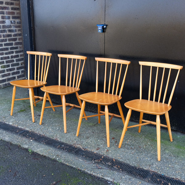Four Beech Chairs