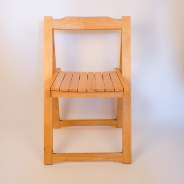 Simple Slatted Wooden Chair