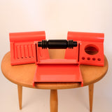 1970s Red Plastic Bathroom Set
