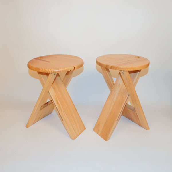 Two Folding Beach Suzy Stools