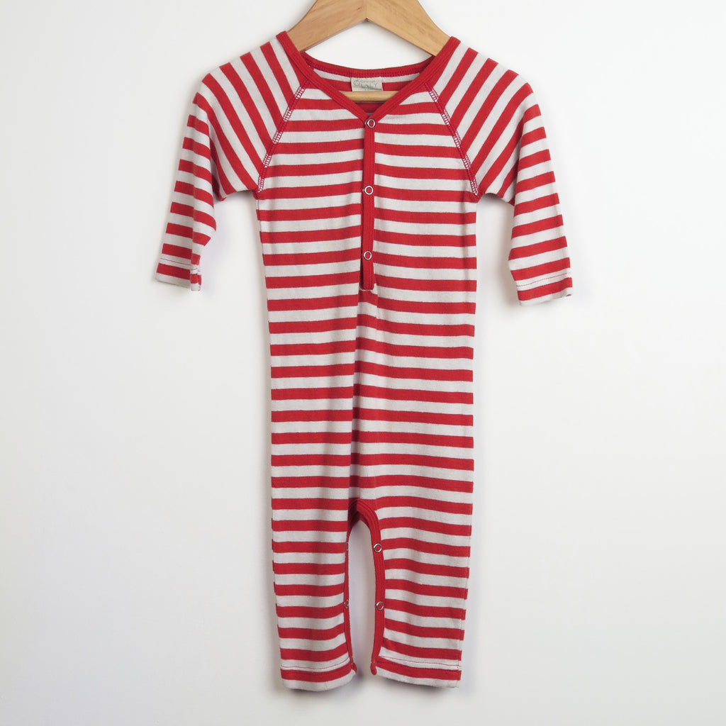Red Striped Baby Grow