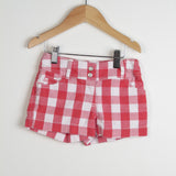 Red Heart Checked Shorts