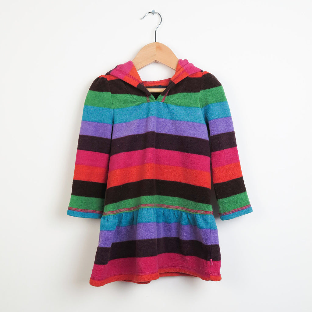 Multi Stripe Fleece Dress