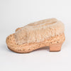 Straw and Sheepskin Clogs