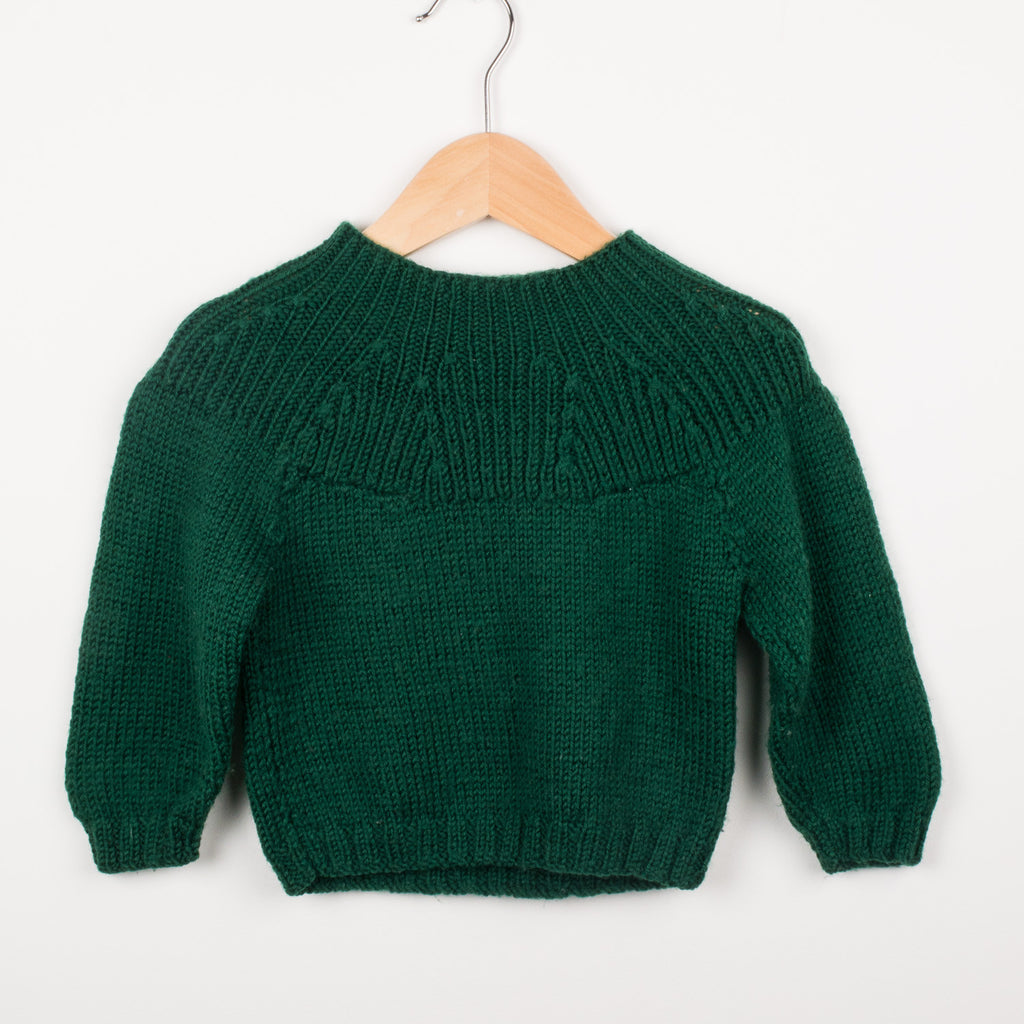 Green Hand Knitted Jumper