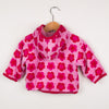 Pink Flower Velour Baby Top