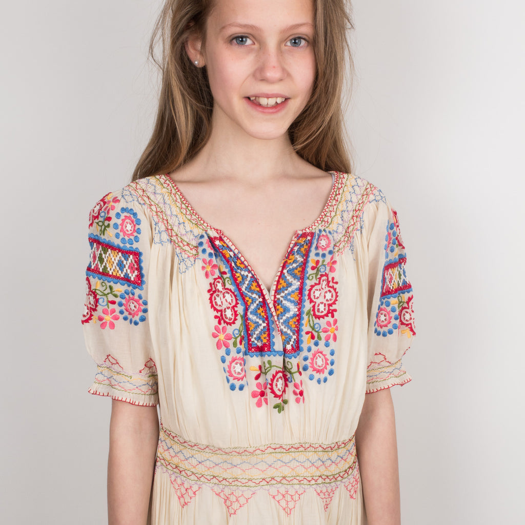 Vintage Embroidered Summer Dress