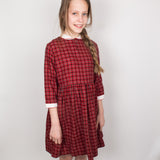 Vintage Wool Check Dress