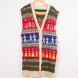 Wool Sleeveless Cardigan