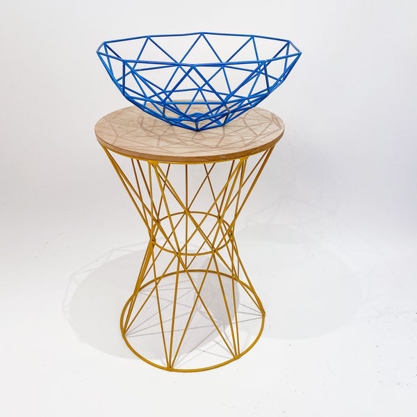 Colourful Wire Table and Fruit Bowl