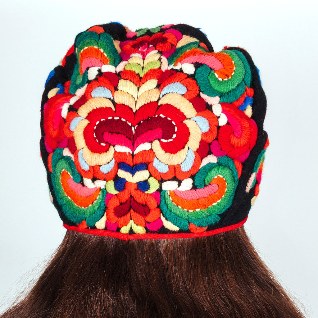 Embroidered Wool Bonnet