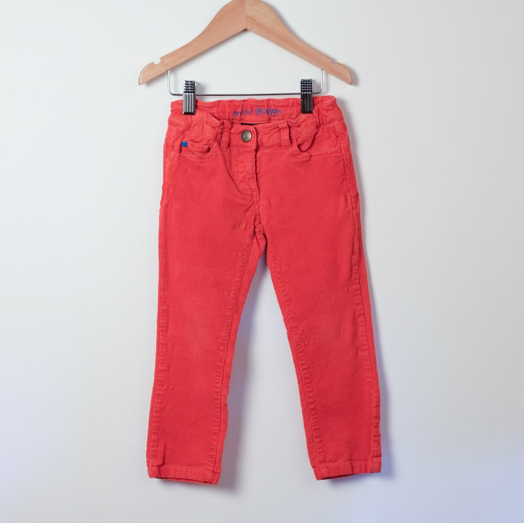 Mini Boden Red Trousers