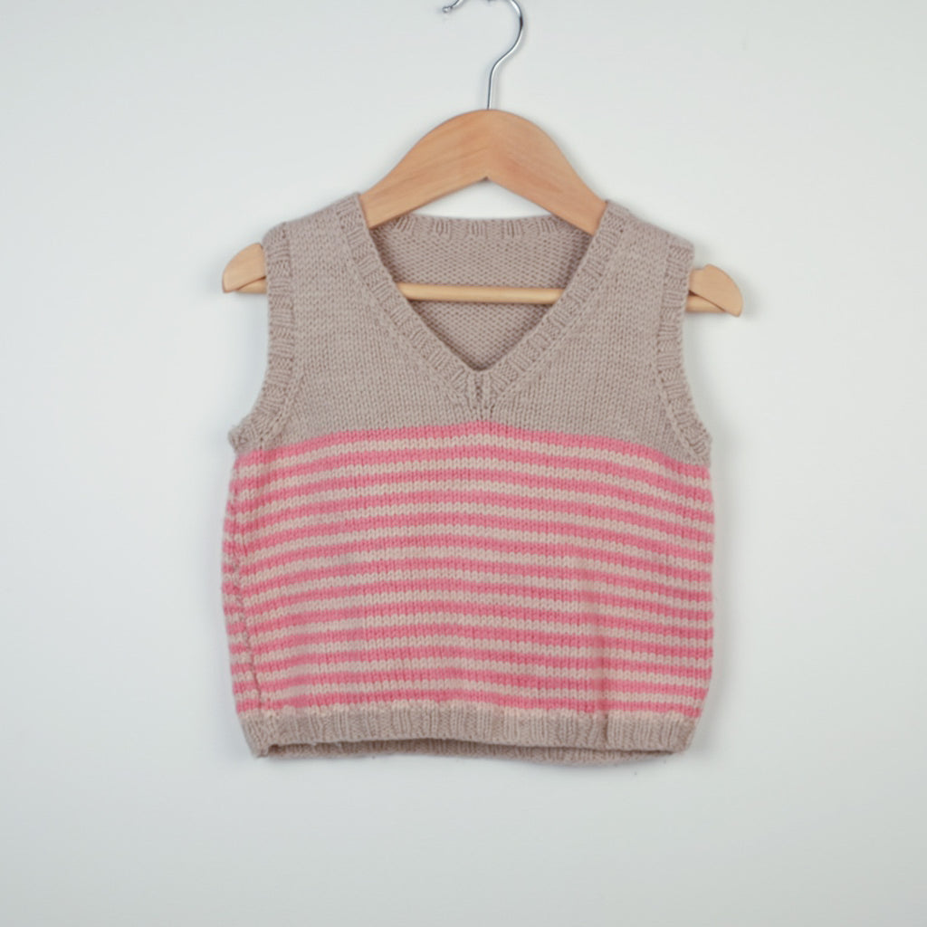 Hand Knitted Stripey Tank Top