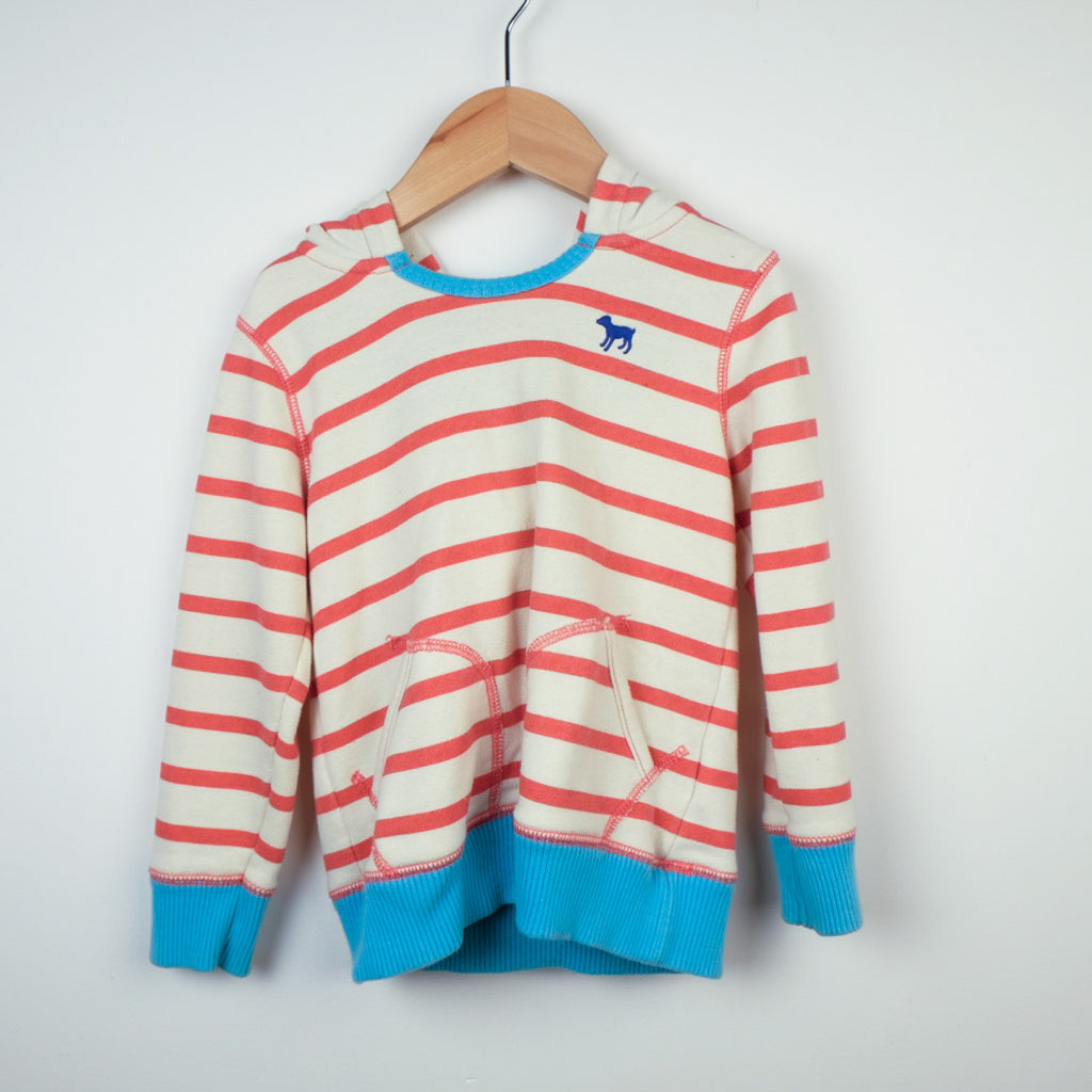 Mini Boden Striped Hoodie
