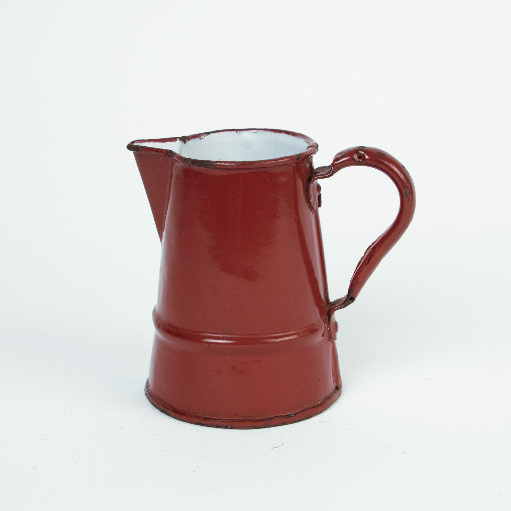 Rust Brown Enamel Jug