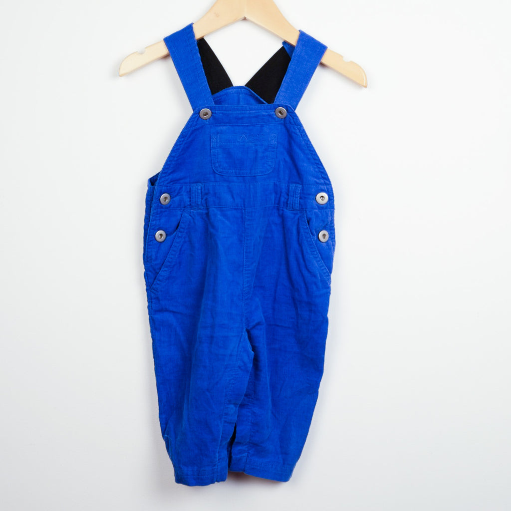 Blue Needlecord Dungarees