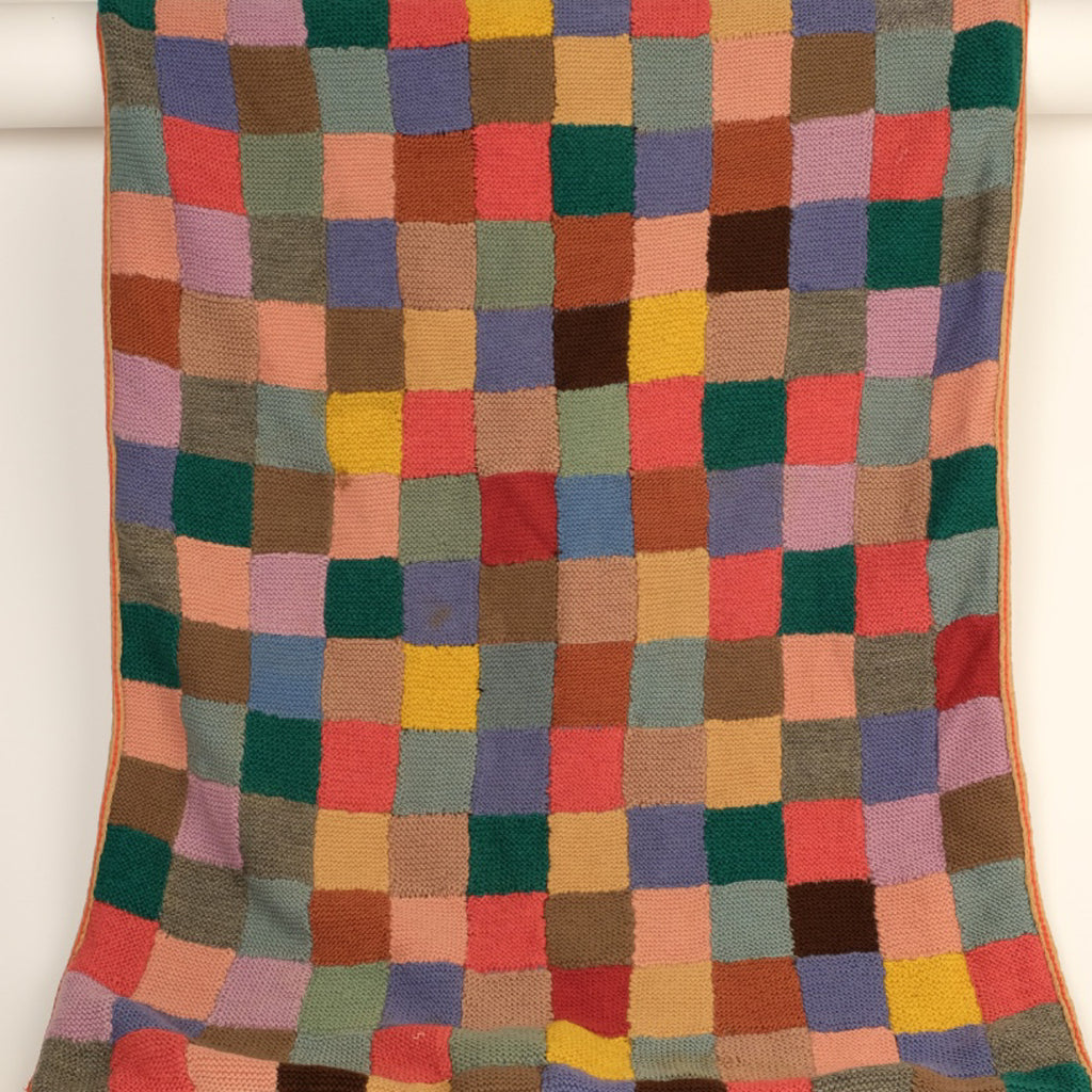 Colourful Hand Knitted Baby Blanket