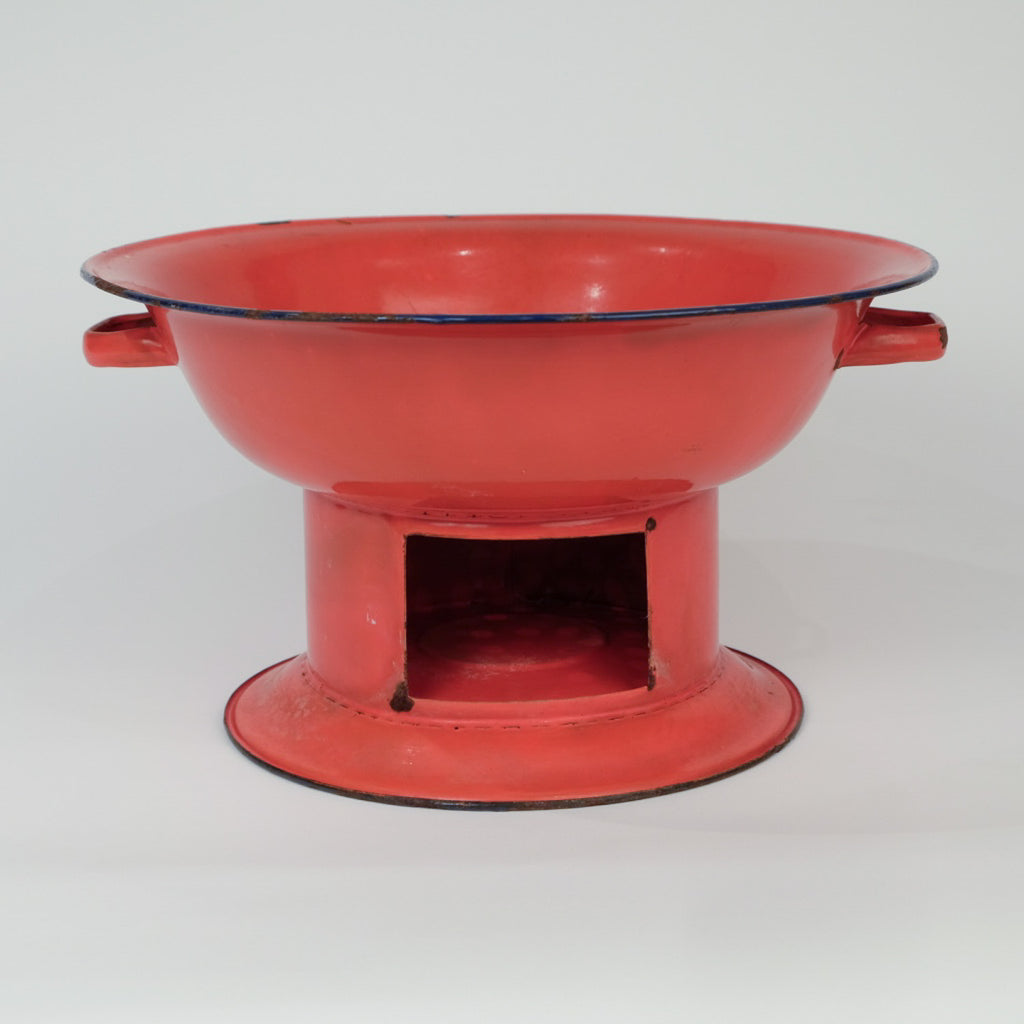 Enamel Red Charcoal Burner
