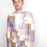 Mens Pastel Patchwork Jacket