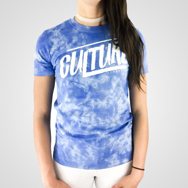 blue unisex tie dye t-shirt from culture apparel