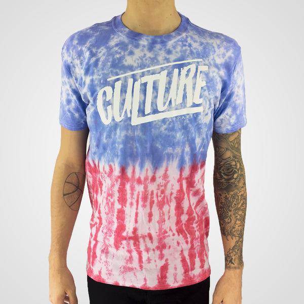 USA tie dye t-shirt by clothing brand culture apparel