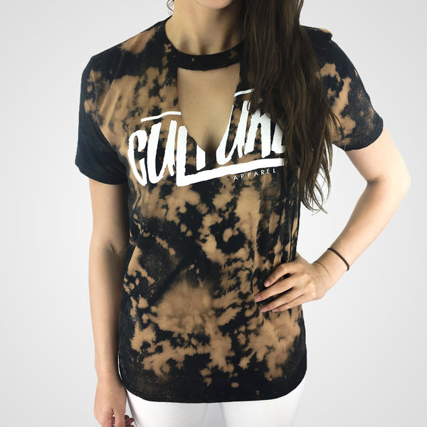 women choker t-shirt by culture apparel