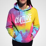 Culture Apparel bright colors tie dye rainbow hoodie