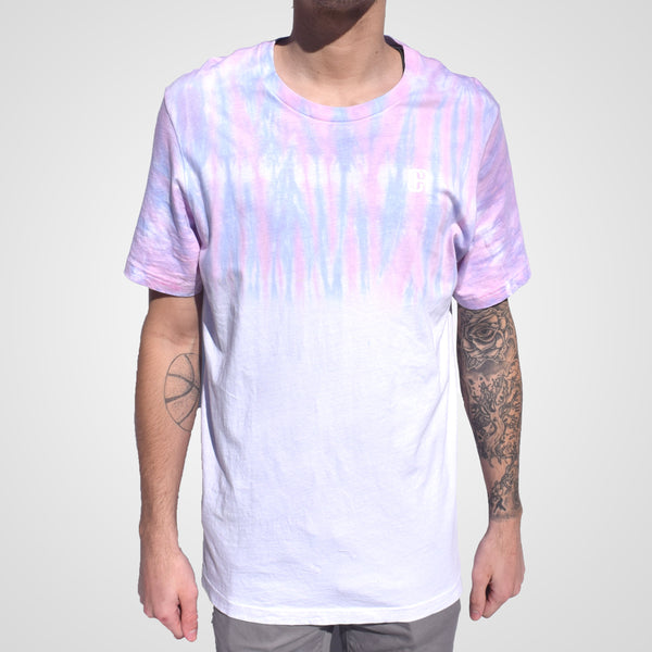 pink and blue tie dye culture apparel t-shirt