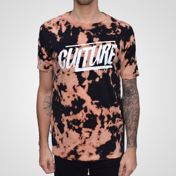 black bleached t-shirt by culture apparel