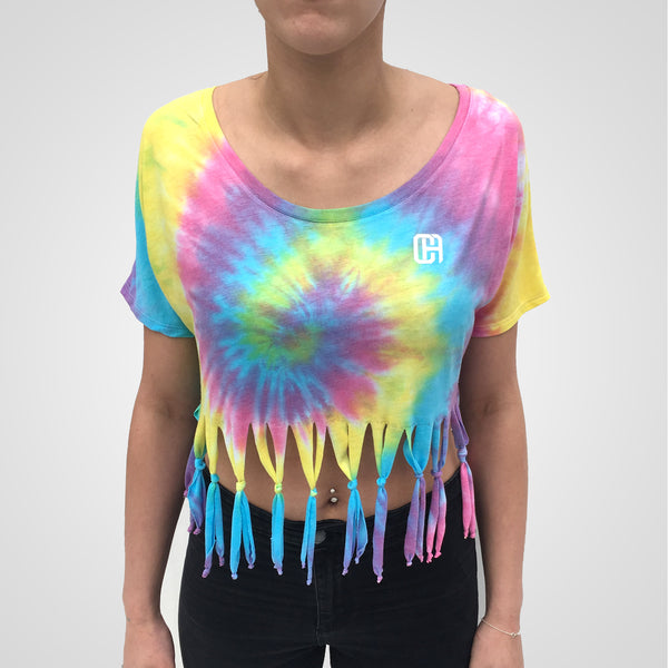 Rainbow Fringe Crop Top