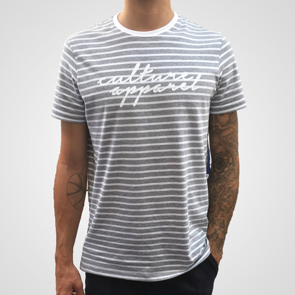Grey Stripe Culture T-shirt