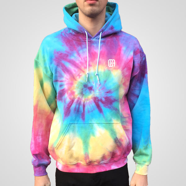 popular bright spiral tie dye hoodie by Culture Apparel
