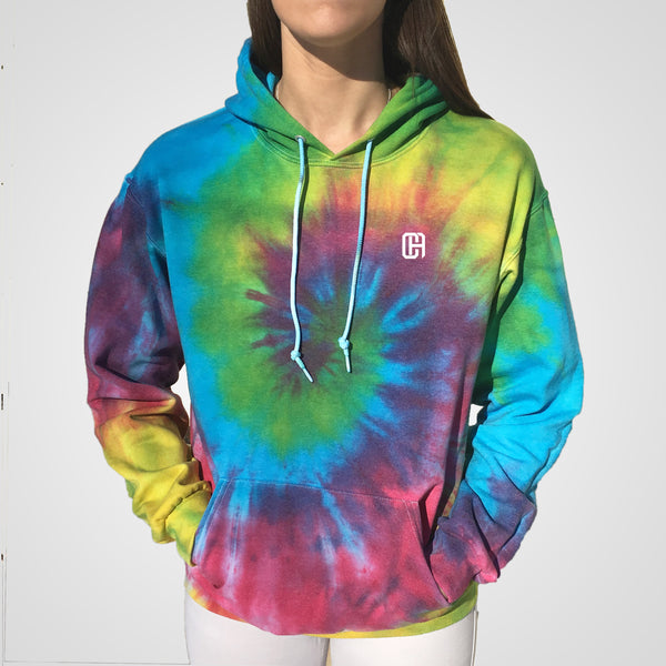 classic rainbow spiral Culture Apparel tie dye hoodie