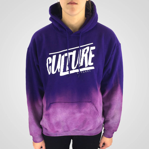 purple dip dyed hoodie by culture apparel