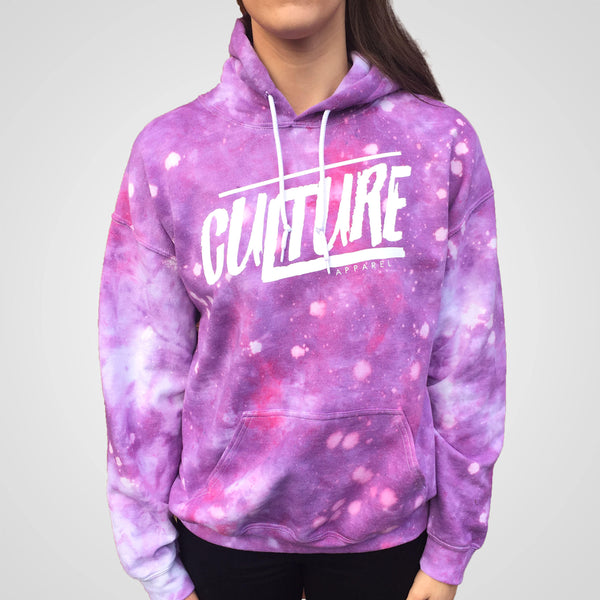 Culture Apparel purple tye dye hoodie