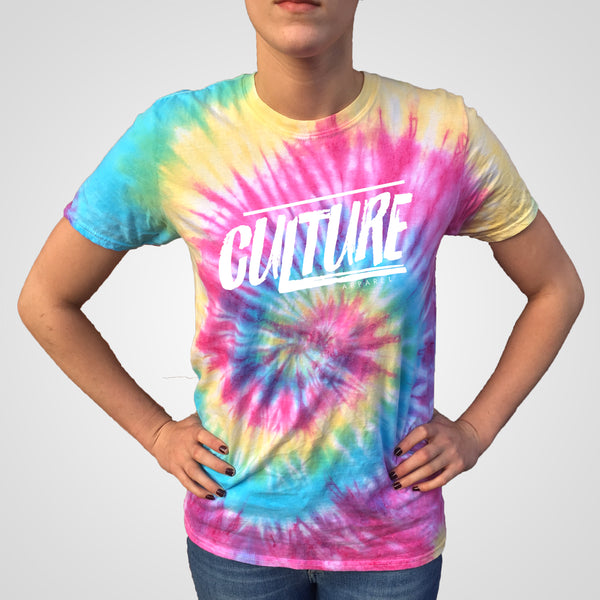 rainbow spiral top by culture apparel