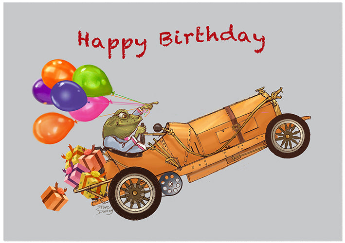 Toad Hall... 'Party Toad' - Birthday Card - Ellerby England