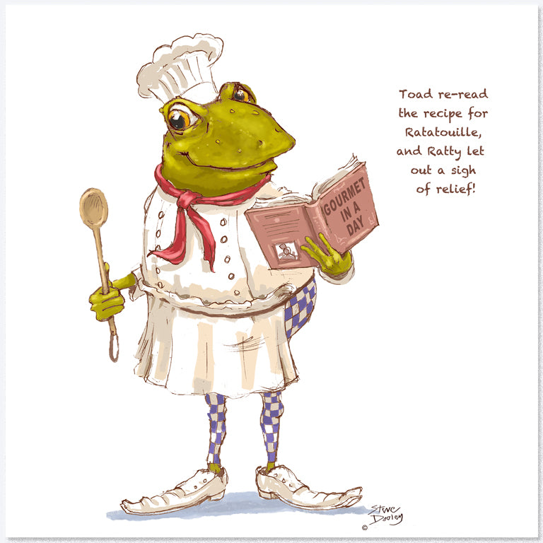 Toad Goes... 'Culinary Genius' - Greetings Card - Ellerby England