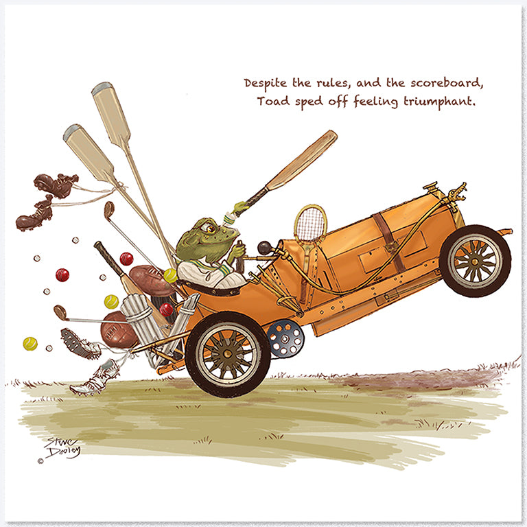 Toad Goes... 'All Sports' - Greetings Card