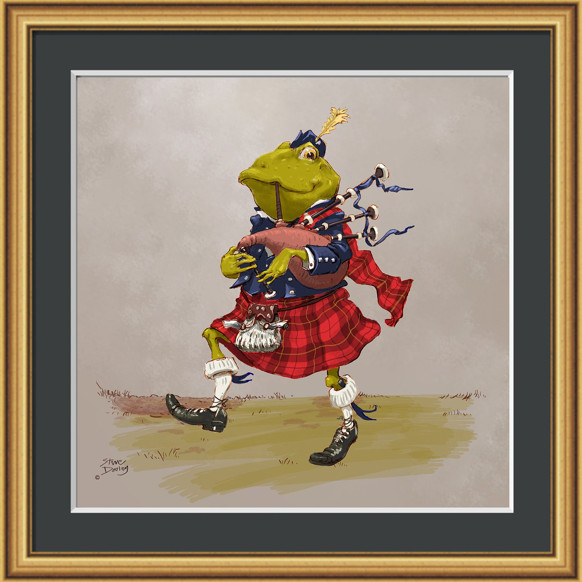 Mr Toad Bagpiper Print