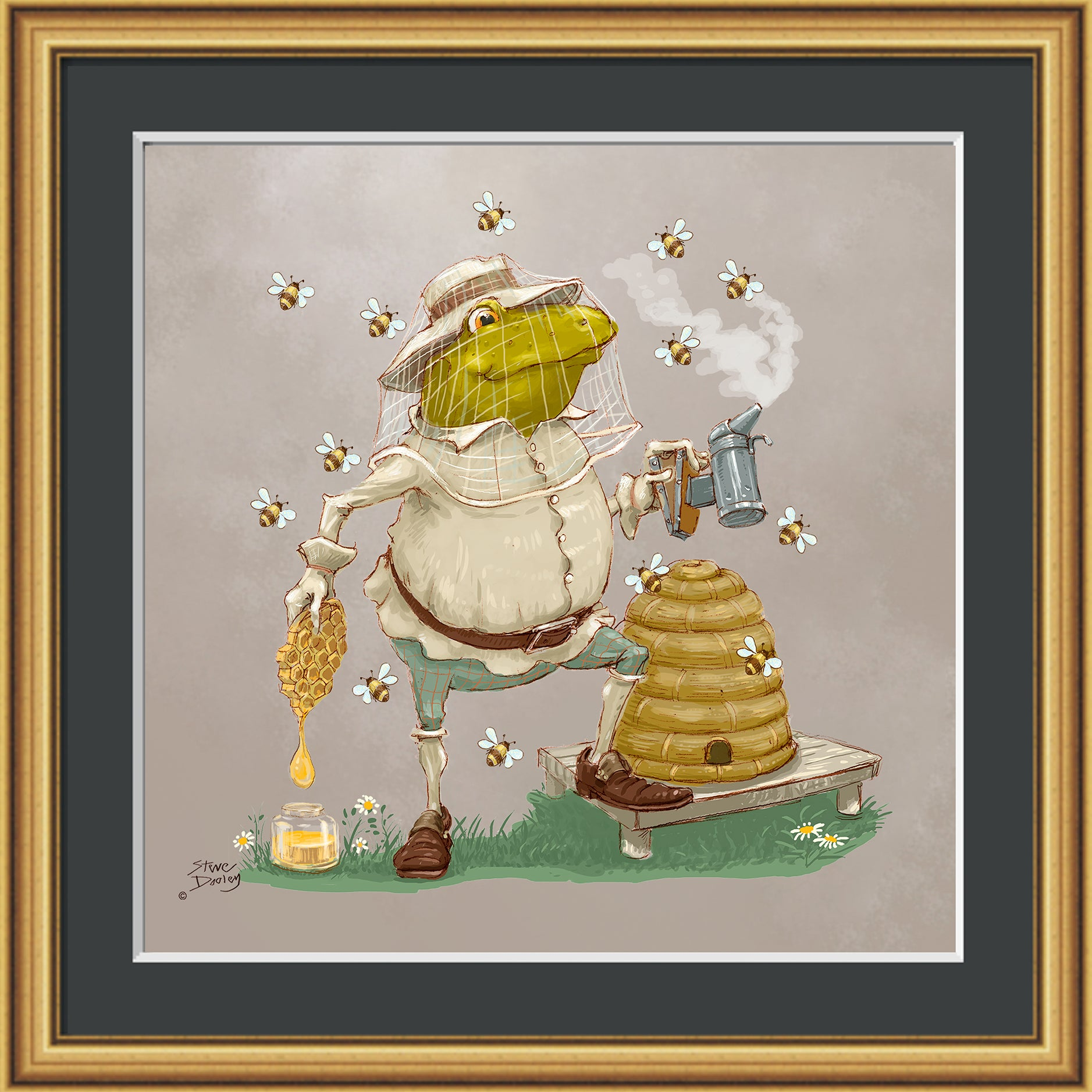 Mr Toad Beekeeping Print