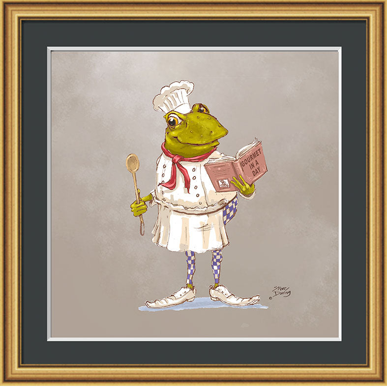 Mr Toad Chef Print - Ellerby England