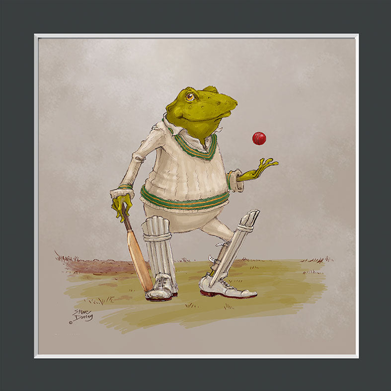 Mr Toad Cricket Print - Ellerby England