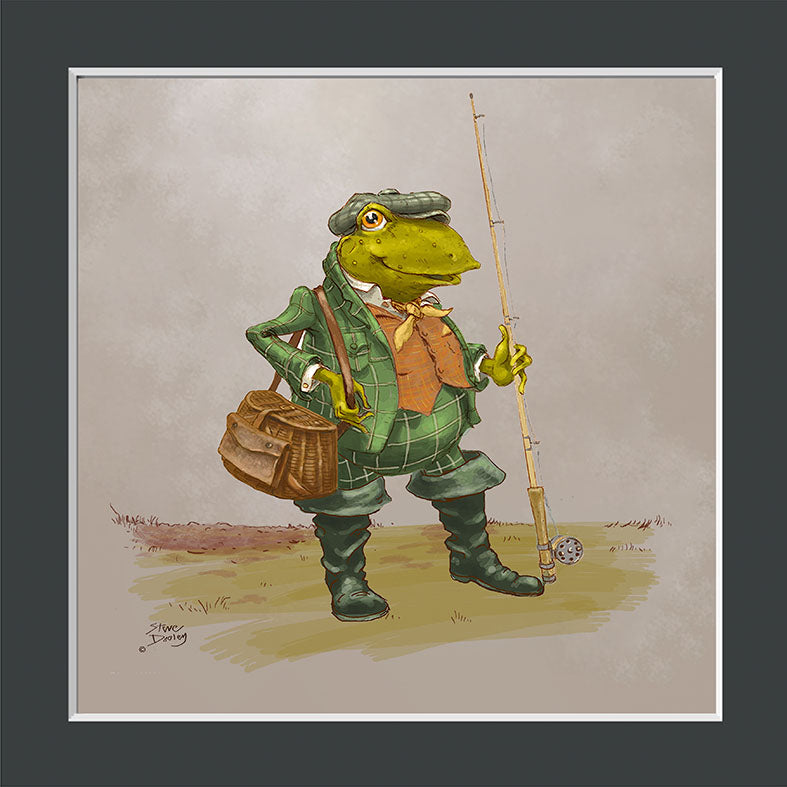 Mr Toad Fishing Print - Ellerby England