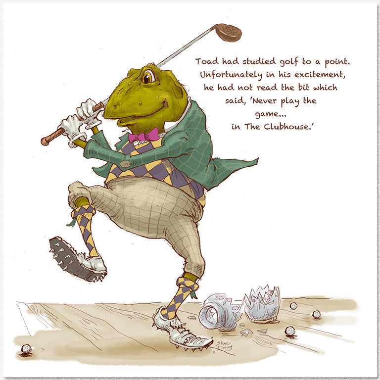 Toad Goes... 'The Clubhouse' - Greetings Card - Ellerby England
